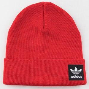 adidas Originals Grove Red Knit Beanie Hat